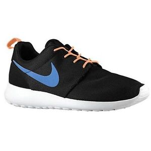 the latest e4247 df4cc Image is loading NEW-Mens-Nike-Rosherun-Black-Game-Royal-Blue-