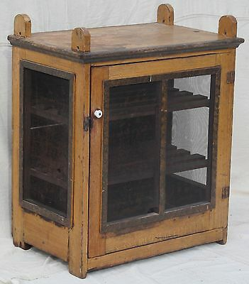 FABULOUS 19TH CENTURY GRAIN PAINTED PINE PENNSYLVANIA PIE SAFE-ESTATE FRESH