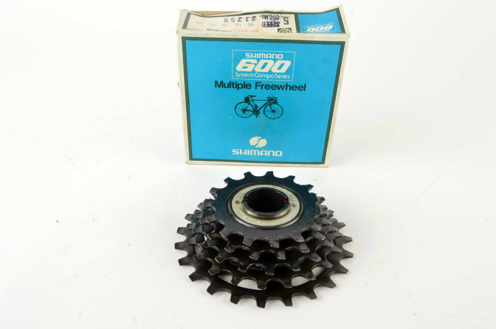 NEW Shimano 600 5-speed UG freewheel, 15-23, from the 1980s NOS NIB