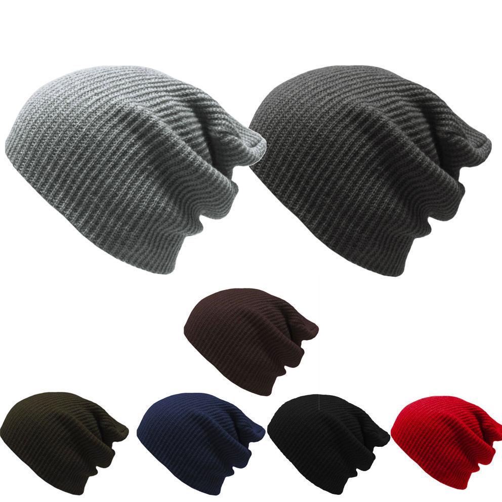 1c1a71c5 NEW Men Women Fashion Knit Baggy Beanie Oversize Winter Hat Ski ...