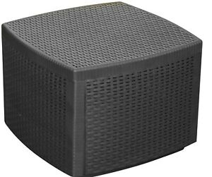 Black-Plastic-Cube-Rattan-Garden-Furniture-Side-Table-With-Storage