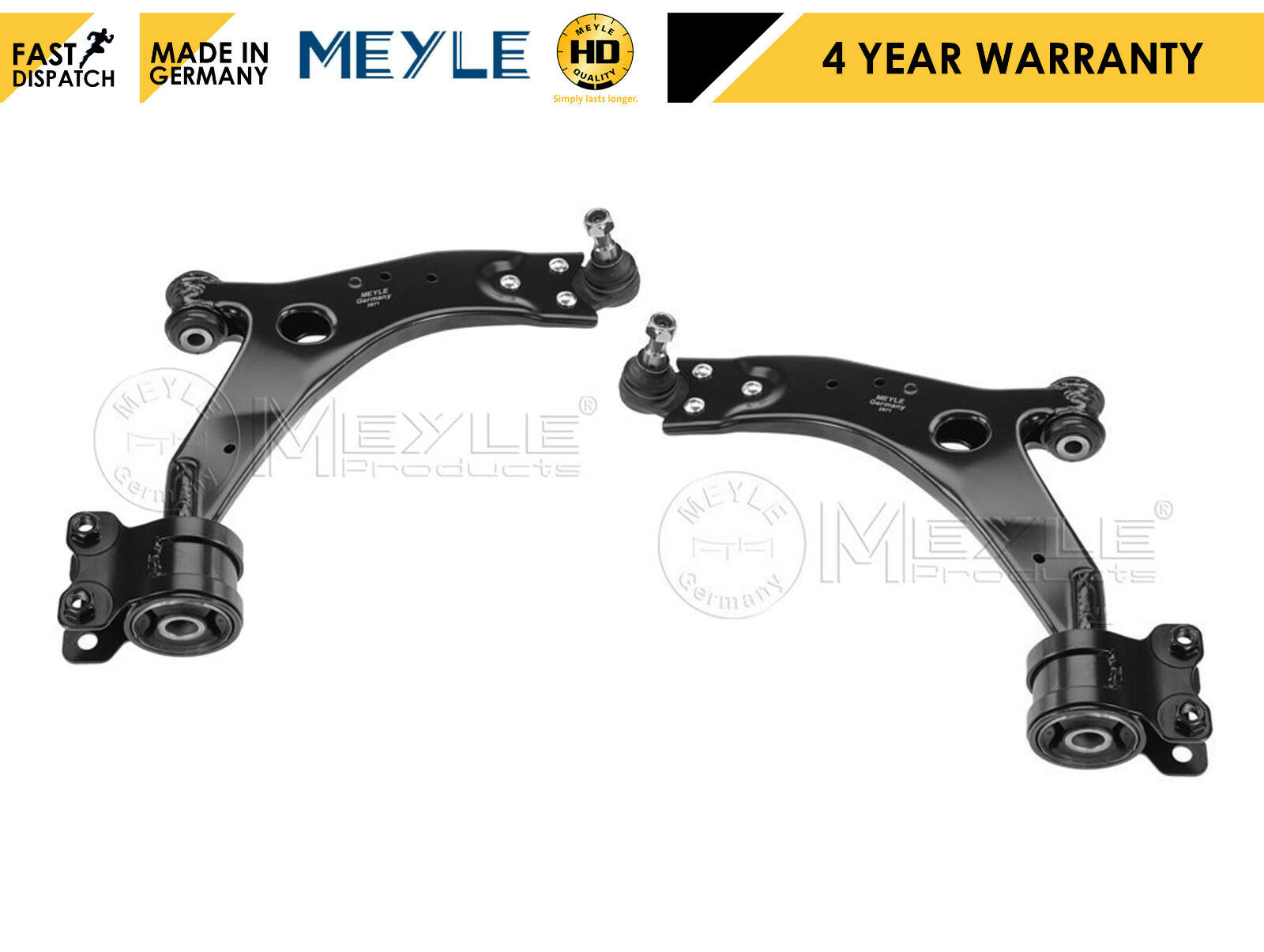 FOR VOLVO S40 V50 FRONT LOWER LEFT RIGHT SUSPENSION WISHBONE CONTROL ARMS 21MM