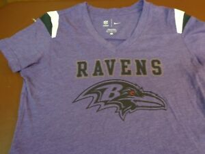 24a41dbe Nike Women's Baltimore Ravens V Neck NFL Football Jersey Style T ...