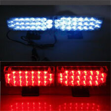 2X 22LED Flash Strobe Light Bar Dash Police Emergency Warning Lamp Red and Blue
