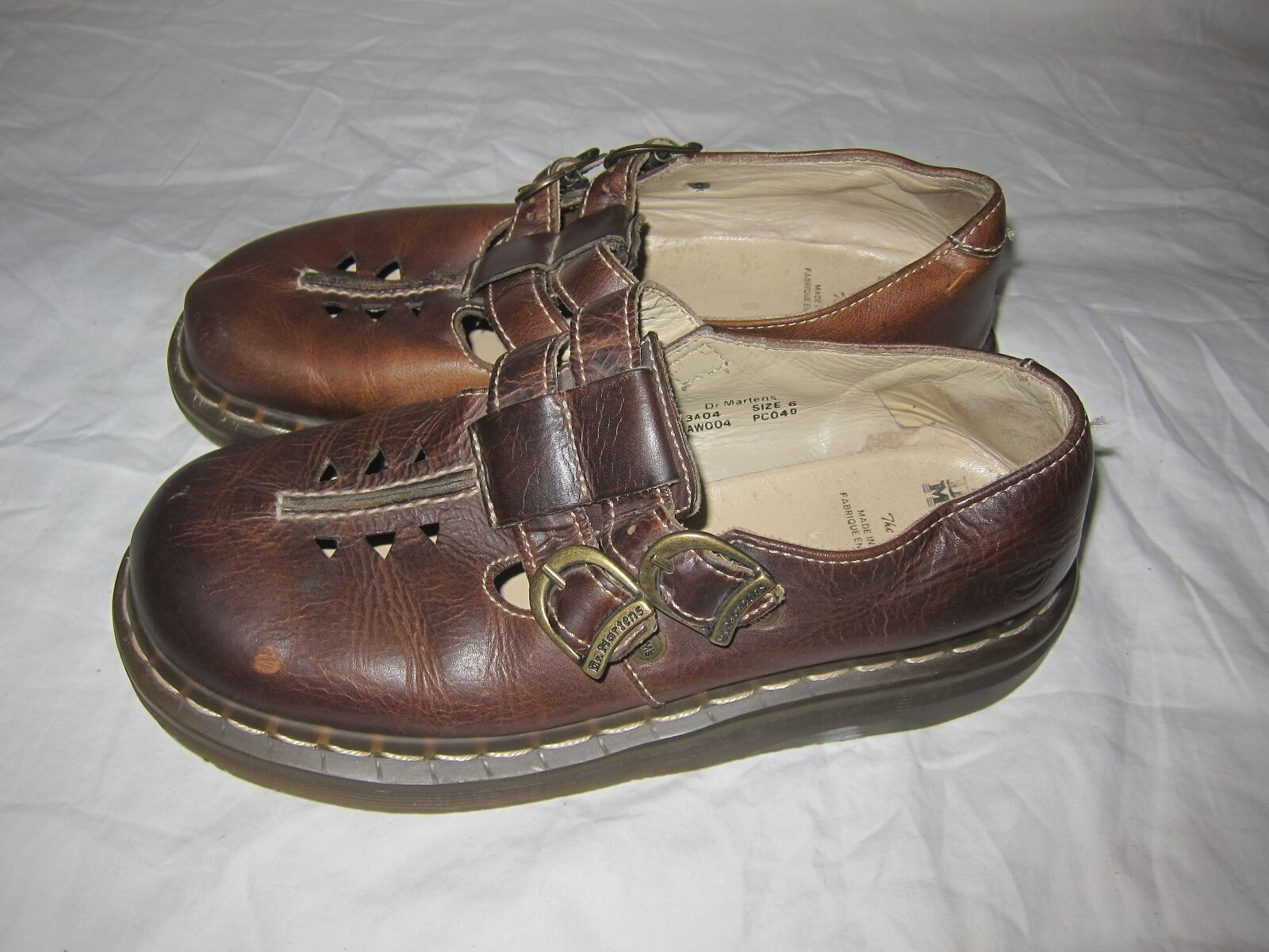 Dr. Marten Dark Brown Leather Women's Double Strap Mary Jane  US 8 England