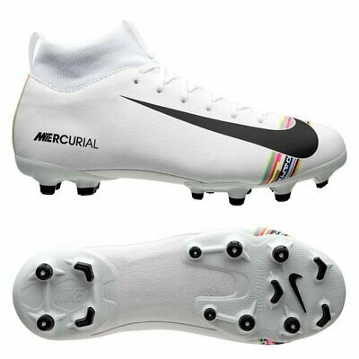 Categoría Poderoso doce  Nike Mercurial Superfly VI DF MG 2019 Aca Soccer Shoes White / Multi Kids  Youth | eBay