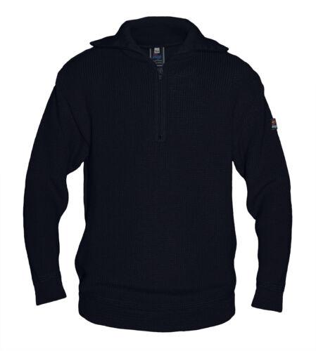 Kinder Troyer Strickpullover Pullover Reißverschluss Stehkragen 50/% Merinowolle