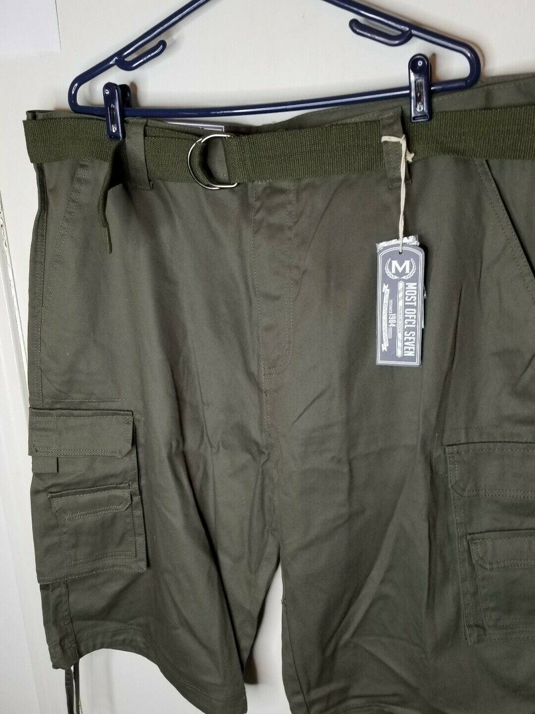 Most Official Seven MO7 Mens Olive Green Cargo Shorts Sz 44 MSRP  NEW
