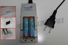 2 PILES ACCUS RECHARGEABLE 18650 3.7V 3000mAh + CHARGEUR TR-001 TRUSTFIRE