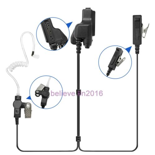 2-wire Mic earpiece For Motorola MT2000 HT1000 MTX1000 XTS3000 GP1200 Radio