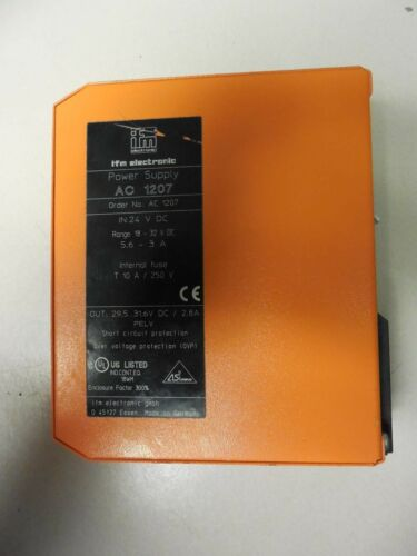 IFM Electronic Power Supply AC1207 USED 30 Day Warranty R5