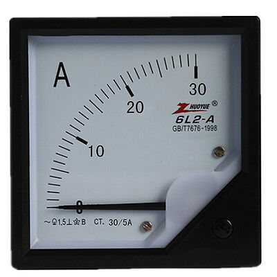 6L2 Model 80mm x 80mm Square Panel AC 0-30A Analog Meter Ammeter