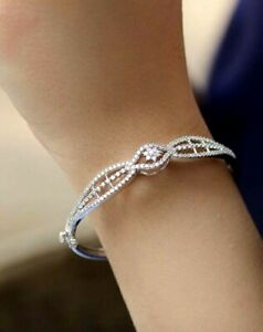 10a8f4988c237 Details about 2.75CT NATURAL ROUND DIAMOND 14K SOLID WHITE GOLD WEDDING  ANNIVERSARY BRACELET