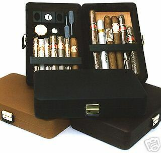 Csonka Cigar Valet Holds 12-14 Cigars-Cutter,Gauge /& More