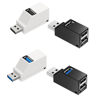 Car3 Port USB Hub USB 3.0//2.0 High Speed Hub~Splitter Box For PC Notebook~Laptop