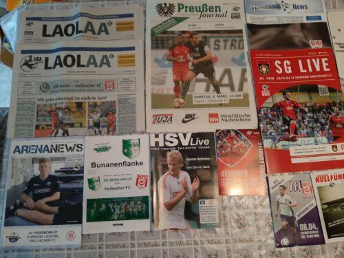 12 verschiedene Programme  Hallescher FC-Auswärtsspiele-2009//10bis 2019//20