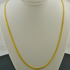 LOVE 10K YELLOW GOLD 20 INCH 2.7MM INTERLINK CHAIN NECKLACE FREE SHIPPING