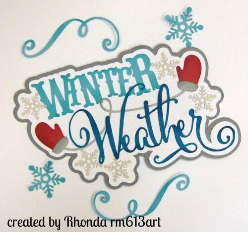 Winter Weather title boy paper piecing  premade scrapbook page  Rhonda rm613art