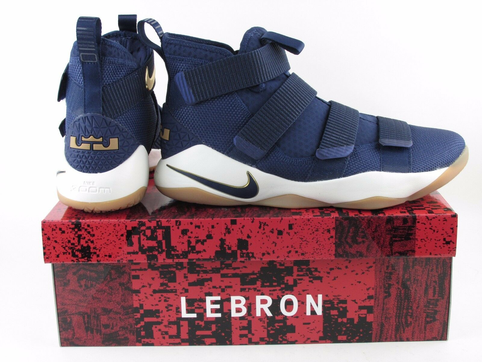 Nike LeBron Soldier XI 11 Midnight Navy Blue Gold Metallic 897644-402 Sz 12 Men  The most popular shoes for men and women