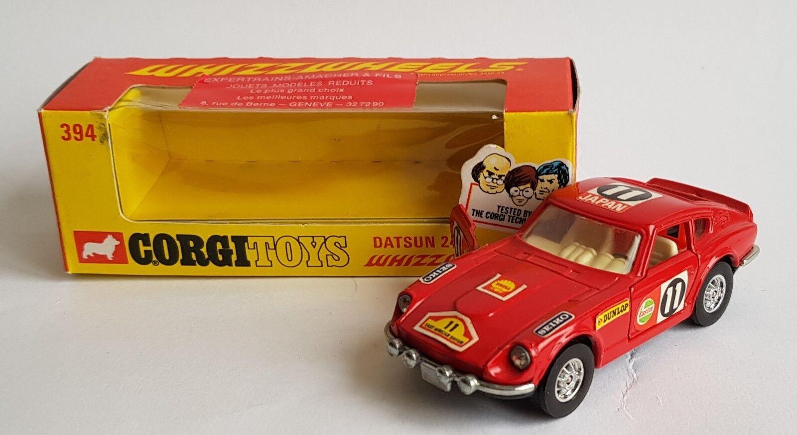 CORGI TOYS Nº 394, Datsun 240Z Whizzwheels, - SUPERBA Nuovo di zecca.