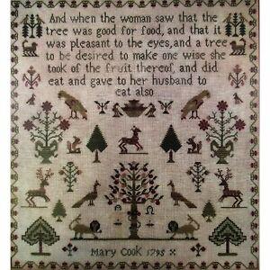 Mary Ann Farmer 1834 Reproduction Sampler Scarlett House Cross Stitch Pattern