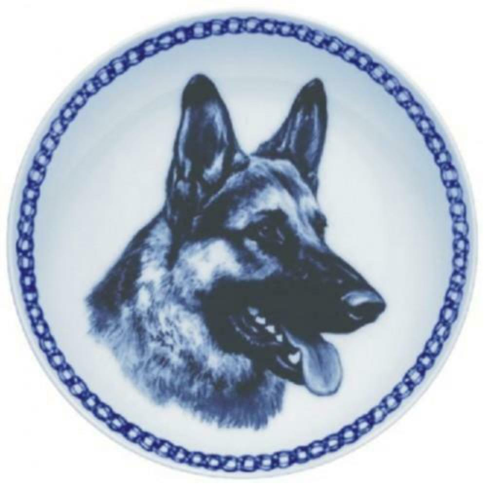 German Shepherd Dog  Dog Plate made in Denmark from the finest European Porcela