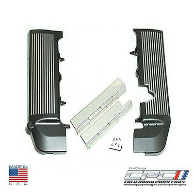 2005-2010 Mustang GT Finned Fuel Coil Covers Black with Gunmetal Fins New