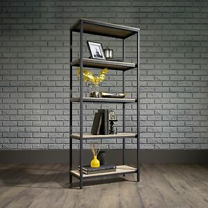 Image Is Loading Style Bookcase Rustic Bookshelves Etagere Shelves Open