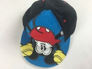 Disney-Mickey-Mouse-Snapback-Hat-Cap-Adult-Colorful-Embroidered-Land-World-Smile