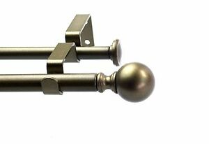 Urbanest Ball Adjustable Double Drapery Curtain Rod Set 5