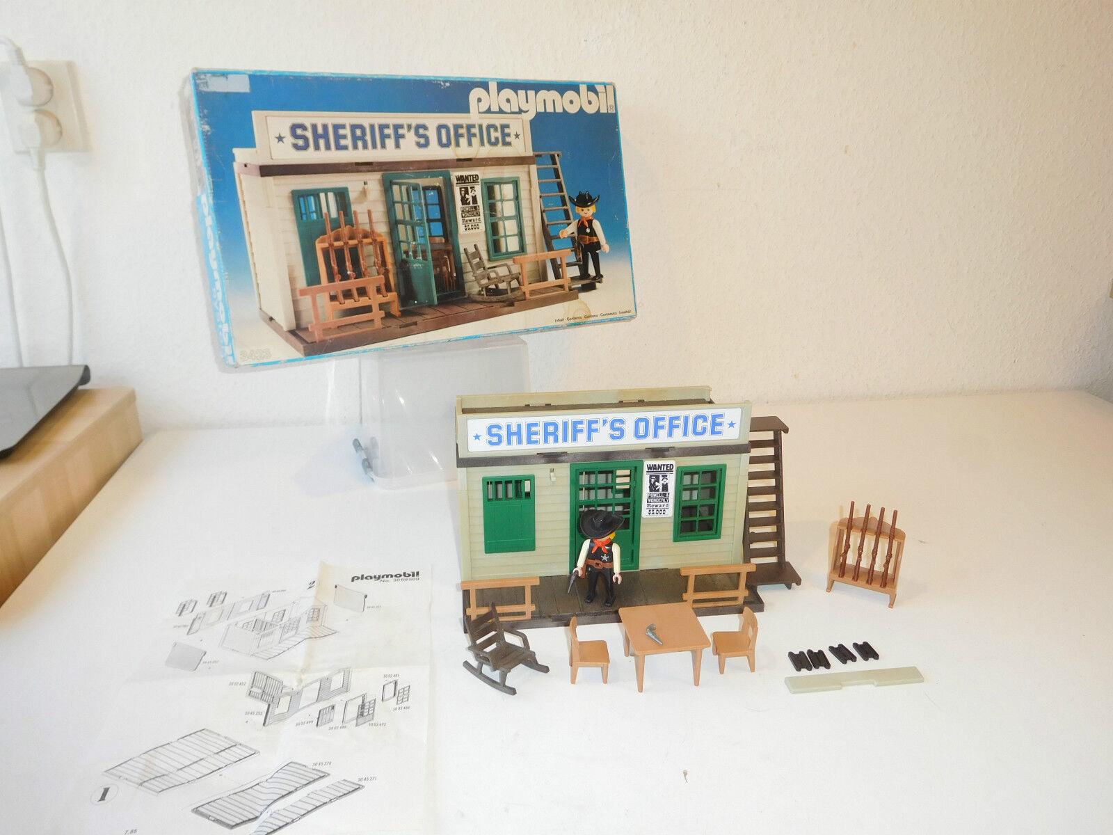 Western Playmobil sherrif's sherrif's sherrif's office 3423 ovp version 3 (3) 9e219a