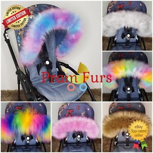 Fur-Pram-Hood-Trim-Stroller-ALL-MODEL-Carry-Cot-Car-Seat-Bug-Seat-Furs-Winter-UK