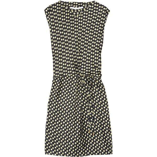 New Women Diane Von Furstenberg Teresia Traffic Traffic Traffic pink Small Lemon Silk Dress 10 7d351a