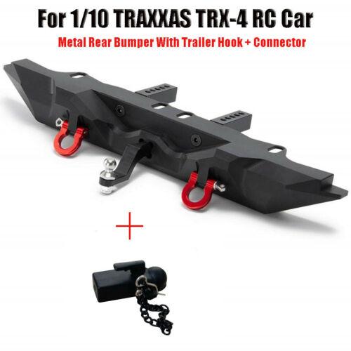 Metall Stoßstange mit Anhänger Haken Stecker für 1//10 TRAXXAS TRX-4 RC Car