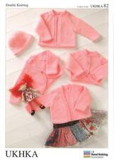 Double Knitting Pattern Cardigans Sweater Wool Premature To 24 Months 31-51 cm