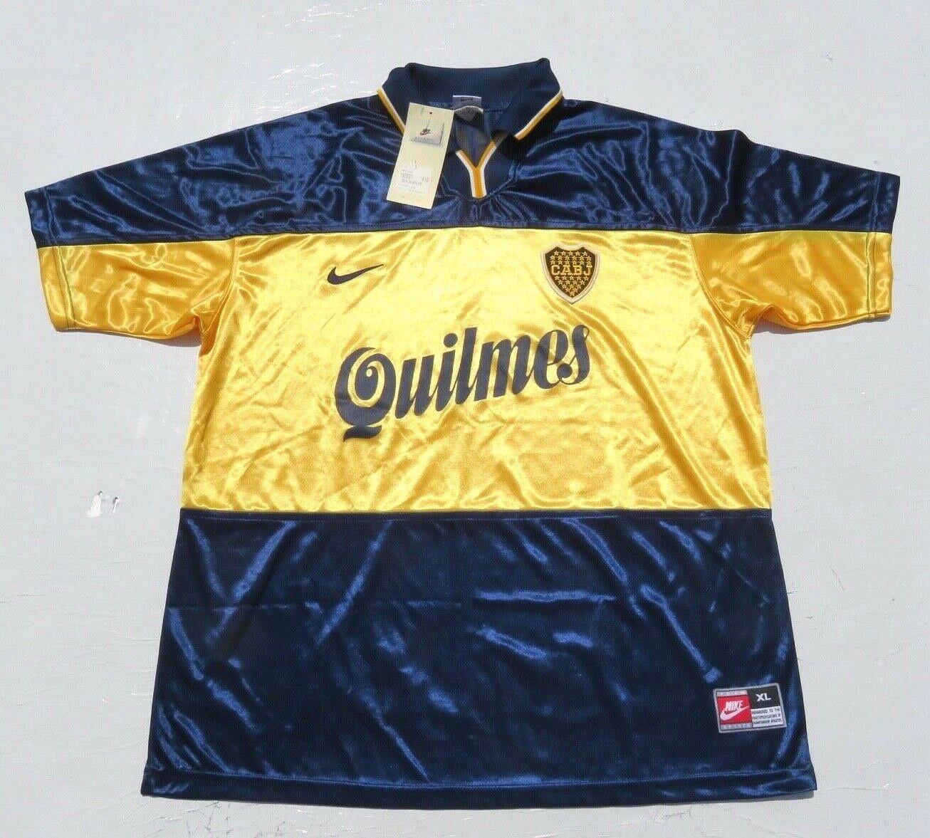 NEW Mens NIKE Boca Juniors Xeneizes Argetina Quilmes Futbol Soccer Jersey Large