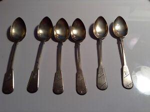 Details about Russian 6 Tea spoon, 84 Zolotnik Silver 1908-1917