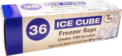 Jetables Ice Cube Bags Clear Réfrigérateur Congélateur Plastique Barbecue party Cubes Maker 36PK