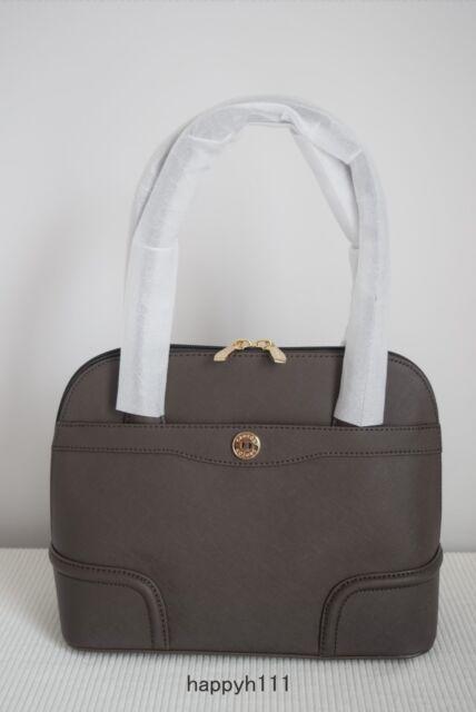 New Oroton Melanie Grip Top Bag Handbag Pebble Metallic Leather Pale Rose Gold
