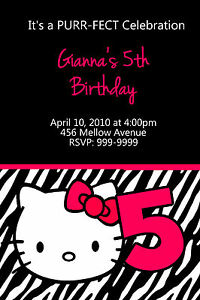 Personalized hello kitty birthday invitations u print 24 hr image is loading personalized hello kitty birthday invitations u print 24 filmwisefo
