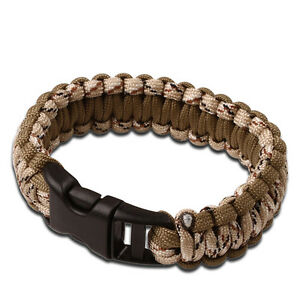 Image Is Loading Tac Force Military Paracord Survival Bracelet Small Desert