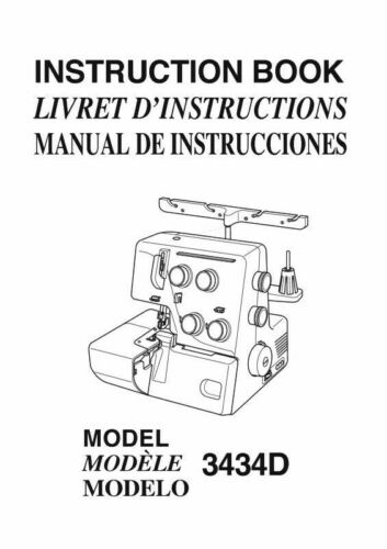 Janome 3434D 9102D S1234DX Sewing Machine Instruction Manual FREE SHIPPING