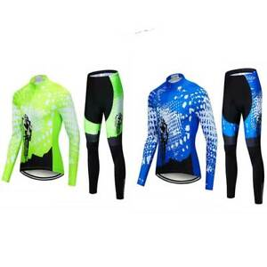 Cycling Suits Long Sleeve Jersey And Pants Set Bike Tights Clothing Set For Men