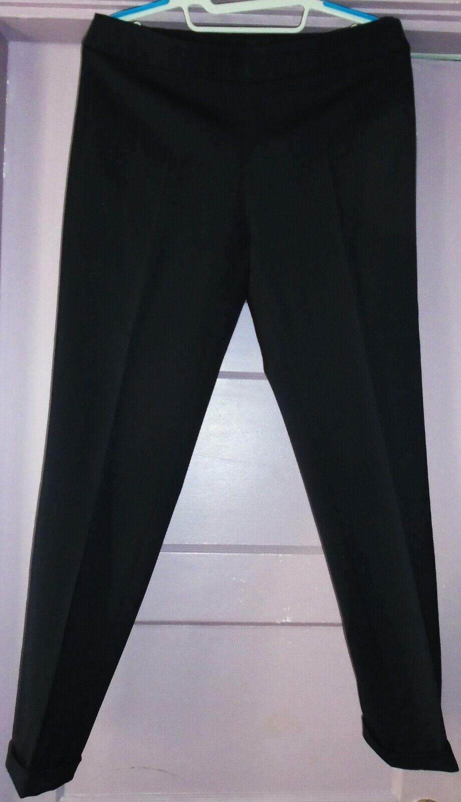 Emporio Armani Skinny ankle Dress Pants dark navy bluee, wool, not lined, Size 42