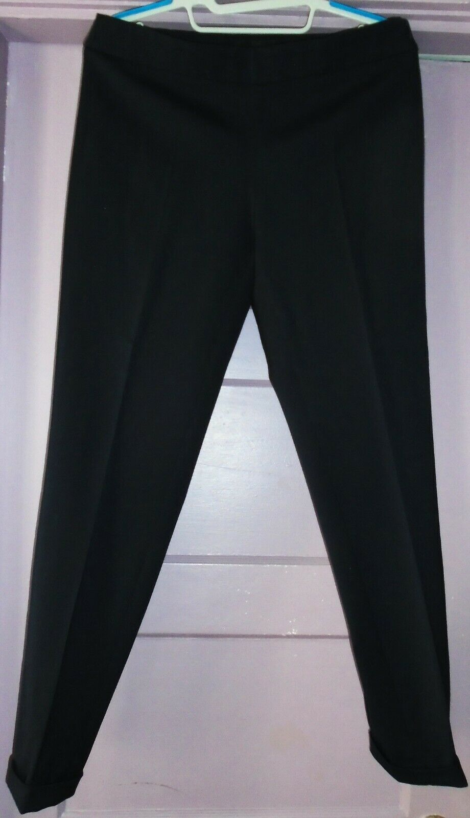Emporio Armani Skinny ankle Dress Pants dark navy Blau, wool, not lined, Größe 42