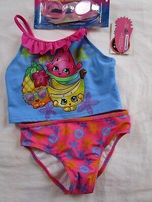 NWT 100/% Authentic Toddler//Girls Two Pieces Bikini Takini Blue Swimsuits 4T-6X