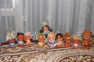 Vintage-Doll-Set-of-10-Moodie-Cuties-Laughing-Crying-Dolls-Lot-Hong-Kong
