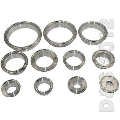 Stainless Steel 3//4-4 OD 19mm-102mm Sanitary Pipe Weld on Ferrule Tri Clamp Type SS SUS316 OD 1//25mm