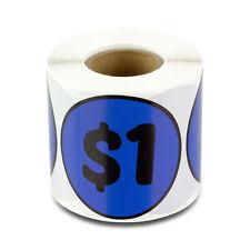 1 Dollars Stickers Garage Sale Yard Retail Flea Market Money Labels 2x2 1pk