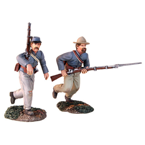 "Confederate Charging Set W Britain 31149 /""At the Double Quick/"" 2 Piece Set"